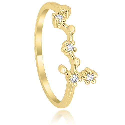 db712811fe Zodiac Constellation Ring with Cubic Zirconia Stones Made of Zinc, Steel &  Brass