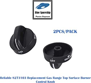 2PCS/PACK Reliable 8273103 Range Control Knob. Replacement Part Fits for Whirlpool Ranges and Replaces 8273103, 8273107, 8273111, ER8273103, PS11745570, WP8273103VP.
