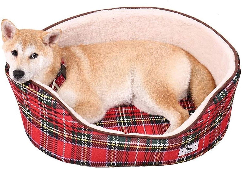 ZRL7y Oval Winter Warm Cat Litter Pet Nest Dog Mattress Pet Supplies Kensel hot Cat Litter Pet Nest Dog Mattress Pet Supplies (colore: A, Dimensione: L 60x45x21cm)