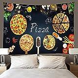 binghongcha Tapiz 3D Comida De Pizza 140X210Cm Manta De Toalla De Playa Mandala, Sábana De Playa De Picnic, Mantel, Boho, Colgante De Pared Decorativo
