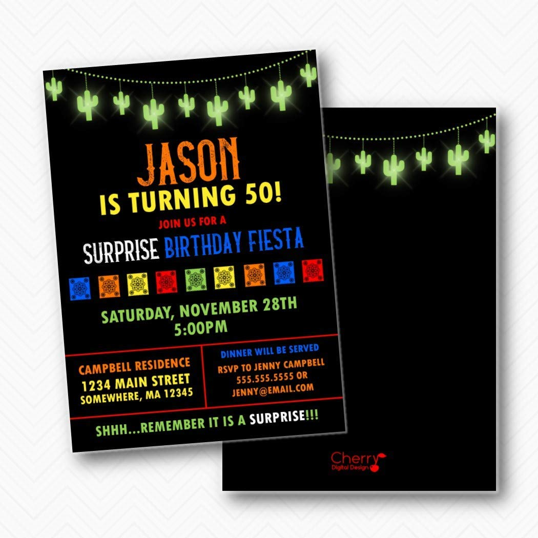 Surprise Birthday Soldering Party Fiesta with NEW before selling Printed envelope Invitations