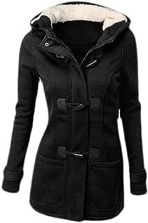 Macondoo Womens Parkas Coat Hooded Zip Outwear Sweatshirt Fleece Jacket