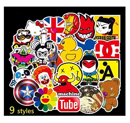 HAMISS 300 Stks Verschillende Gemengde anime Cartoon Doodle PVC Stickers Speelgoed Voor Auto Koffer Laptop Helm Skateboard Bagage Telefoon Gitaar Motor Koelkast Decor