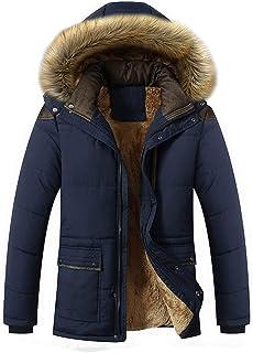 JIANYE Giubbotto Parka Uomo Giacca Parka Caldo Giacca Cappotto Invernale con Cappuccio Antivento Casual Giacche