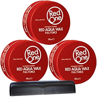 RedOne Aqua Wax Full Force Red - Peine de peluquería (150 ml, 3 unidades)