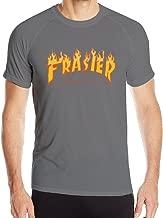 Men's Thrasher Magazine Frasier Fire Logo Tshirt DeepHeather L