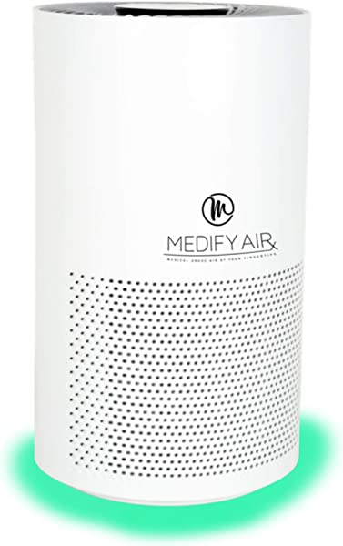 Medify MA Smart Mobile App Alexa Enabled Medical Grade True HEPA Air Purifier For 500 Sq Ft H13 99 97 Particle Sensor With Light Indicator 3 In 1 Filter Filter Replacement Indicator