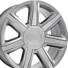 OE Wheels 22 Inch Fits Chevy Silverado Tahoe GMC Sierra Yukon Cadillac Escalade CA87 Hyper Silver w/Chrome 22x9 Rim Hollander 4739 - coolthings.us