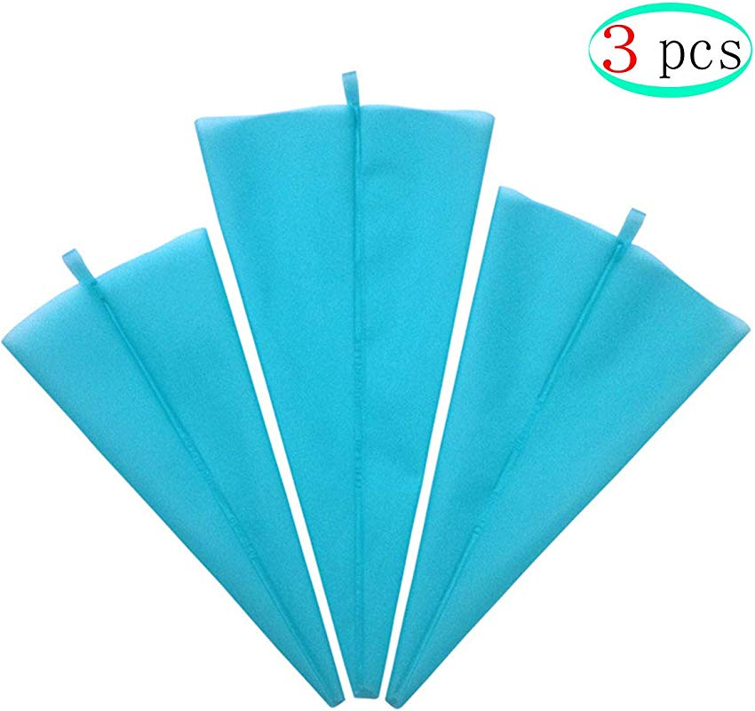 OBTANIM Silicone Pastry Bags 3 Sizes 12 14 16 Inches Reusable Icing Piping Bags Baking Cookie Cake Decorating Bags Set Of 3