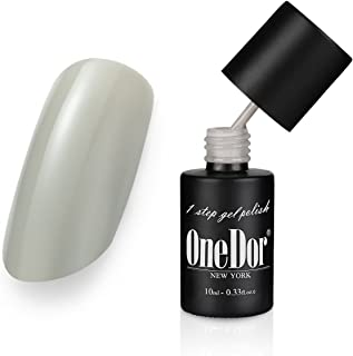 OneDor One Step Gel Polish UV Led Cured Required Soak Off Nail Polish No Base or Top Coat Nail Need (44- Cloud)