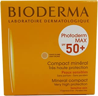 Bioderma Photoderm MAX Compact SPF 50+ Mineral Sunscreen Light Tint for Combination Oily Skin, 10g