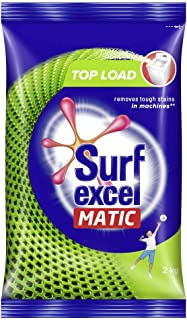 Surf Excel Matic Top Load Detergent Washing Powder, Specially Designed For Tough Stain Removal In Top Load Machines, 2 Kg