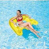 NDYD Giocattoli gonfiabili per Piscina Poltrona a Mano Sedia a Fila Acqua Gonfiabile Gonfiabile drenaggio drenaggio Attrezzature Sportive Anello di Nuoto Adulto 120 cm (Colore: Giallo) DSB