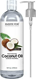 Majestic Pure Fractionated Coconut Oil, For Aromatherapy Relaxing Massage, Carrier Oil..