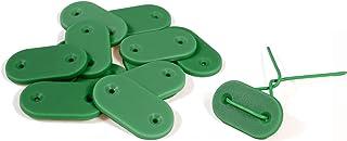 Simon & Co -Lot de 26- Fixation pour canisse et Brise-Vue - Couleur Vert - avec Fil résistant - en Bonus Un carré de Papie...