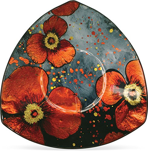 "AngelStar Sunrise Poppy Plate-8"" Triangle"