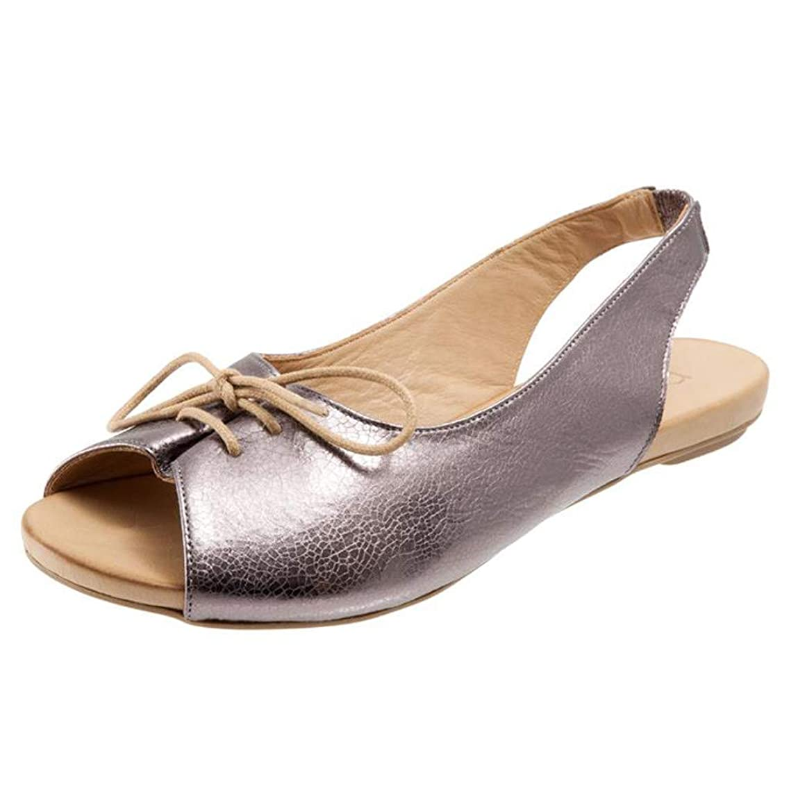 Slip On Sandals for Women,SMALLE??? Women's Casual Summer Peek Toe Flat Shoes Comfortable Lace Up Ankle Beach Shoes