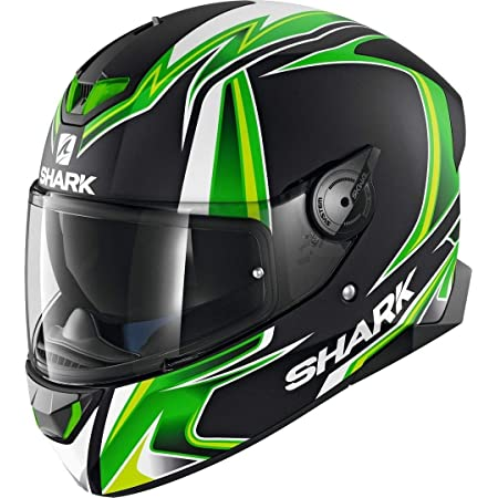 Shark Herren Nc Motorrad Helm Schwarz Grun Weiss L Auto
