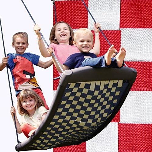 Größe Mehrkindschaukel STANDARD Weiß rot für 4 Kinder, 136 x 66 cm (SPR.L.105) - das Original direkt vom Hersteller die-schaukel