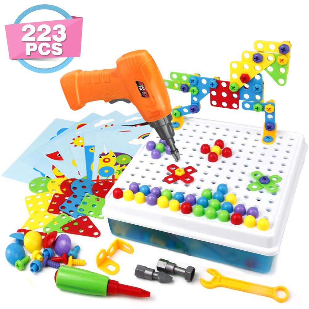 Symiu Bloques Construccion Rompecabezas Bricolaje 223 Piezas Puzzle Infantiles Tablero Caja Herramientas Juguete para Niños 3 4 5 6 Años: Amazon.es: Juguetes y juegos