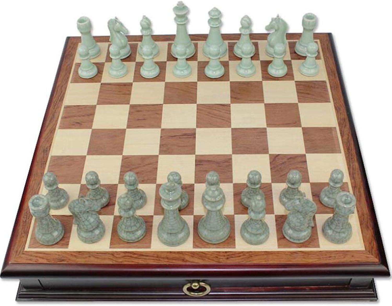 solo para ti SKLLA Juego de ajedrez ajedrez ajedrez de cerámica Ajedrez Grande de Madera Maciza Mesa de ajedrez de Alto Grado  comprar mejor