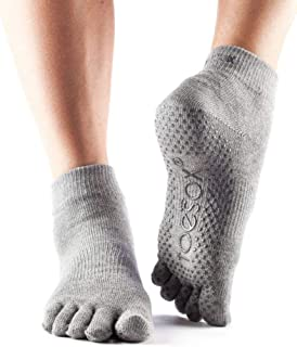ToeSox Grip Pilates Barre Socks – Non Slip Ankle Full Toe for Yoga & Ballet