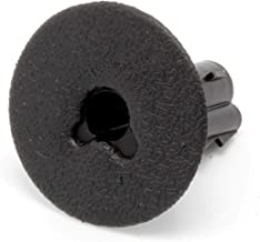 THE CIMPLE CO - Single Feed Thru Bushing - (Black) RG6 Feed Through Bushing (Grommet) Replaces Wallplates (Wall Plates) for Coax Coaxial Cable, Network Cable, CCTV - Indoor/Outdoor Rated – 100 Pack