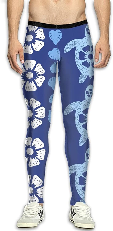 Dfdffrfrwqq Hawaii Tortoise Stripes Men's Active Basic Athletic Skinny Track Pants