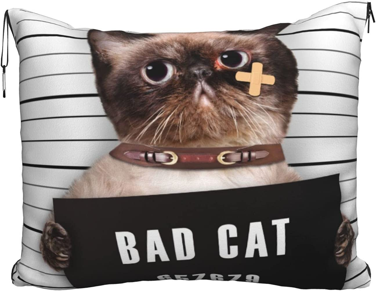 Travel Blanket Pillow Indianapolis Mall Bad Cat for in Popular brand the world Throw Ai Pillowcase