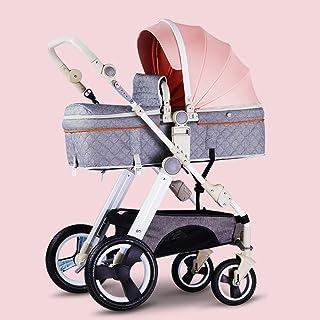 2-i-1 barnvagn och barnvagn med vändbart styre, lätta höga landskap barnvagnar hopfällbar buggy-a
