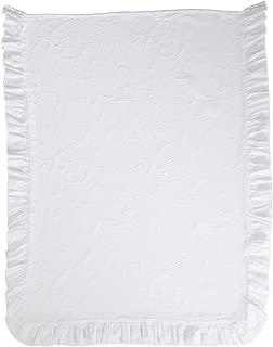 Ethan Allen | Disney  Minnie Mouse Scroll Matelassé Toddler Coverlet, Snow (White)