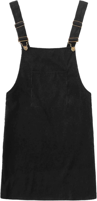 Floerns Women's Corduroy Bib Pocket sale Pinafore Manufacturer regenerated product Dress Overall