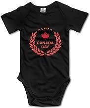 XHX Newborn Infant Canada Day July 1st Short Sleeve Romper Onesie Bodysuit Jumpsuit