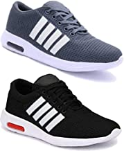 WORLD WEAR FOOTWEAR Men Multicolour Latest Collection Sports Running Shoes - Pack of 2 (Combo-(2)-9063-9064)
