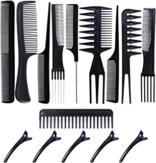 Professional Styling Comb Set 10 Piece Hair Combs Salon Hair Styling Tools for Making Hair Styles
