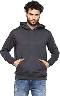 Alan Jones Clothing Cotton Solid Hoodie Sweatshirt