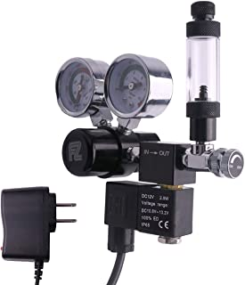 FZONE Aquarium Co2 Regulator DC Solenoid with Big Dual Gauge Display and Bubble Counter..