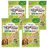 ライオン (LION) ペットキッス (PETKISS) 犬用おやつ つぶつぶチップで歯のケア 低脂肪 蒸しササミ 野菜入り 60g×4個パック (まとめ買い)