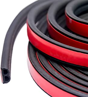 32Ft Long Self Adhesive Automotive Rubber Weather Draft Seal Strip Weatherstrip for Car Window Door Soundproofing Engine C...
