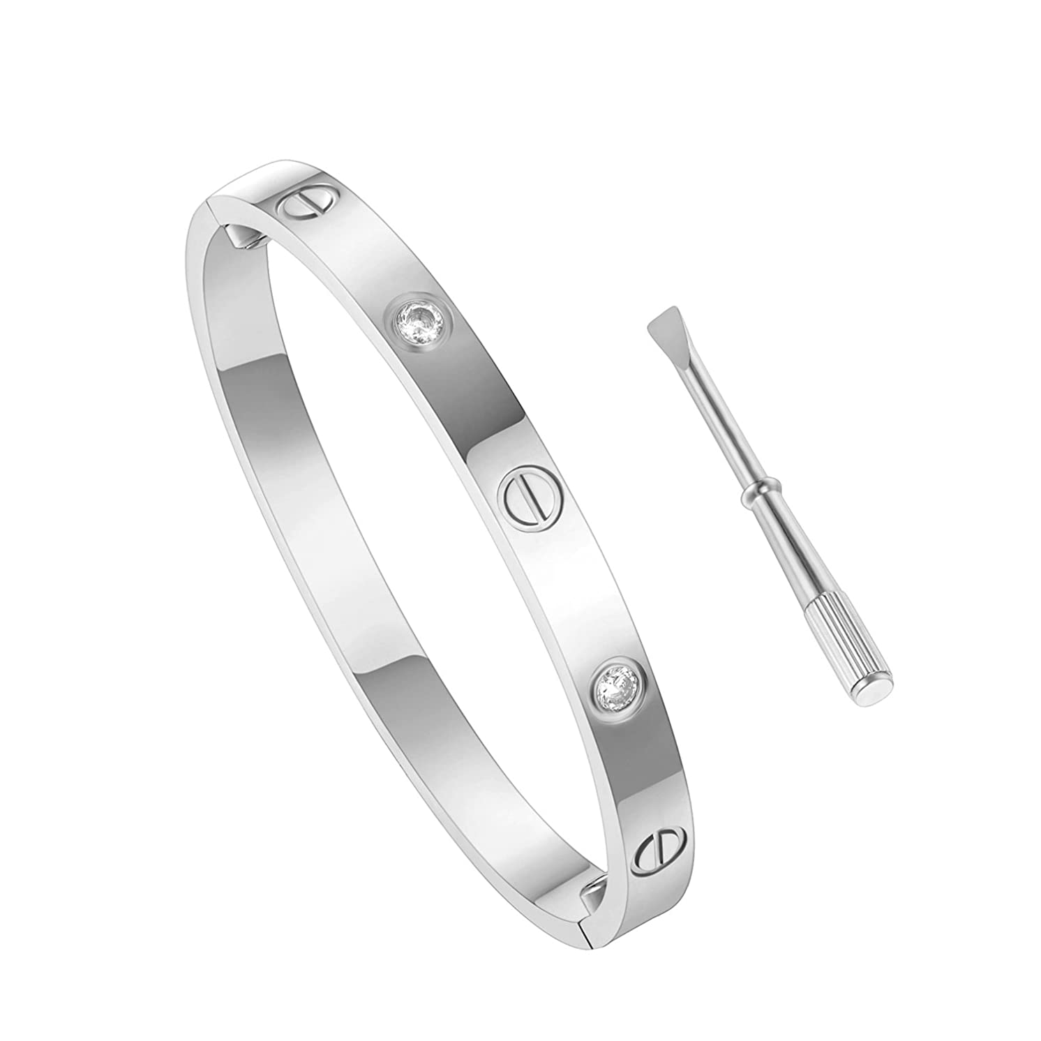 luo an Titanium Steel Love Bracelet with Screwdriver Can Wear in Shower