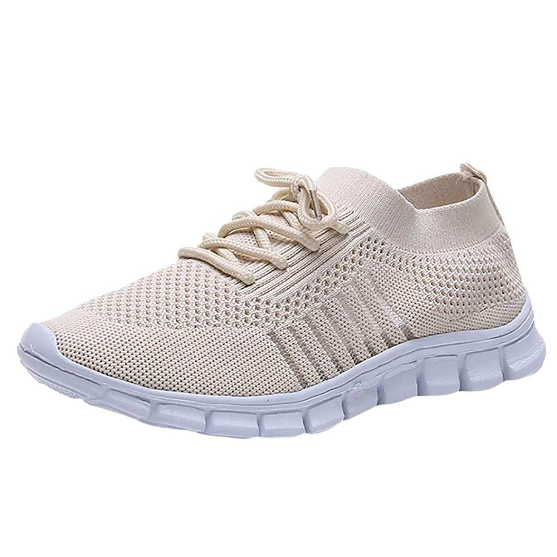 Lovygaga Summer Popular Women Casual Breathable Flying Weaving Sneakers Ladies Brief Solid Color Comfy Socks Shoes