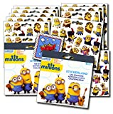 MINIONS Stickers Party Favors - Bundle of 2 Sticker Packs - 12 Sheets 240+ Stickers plus 2 Specialty Stickers!
