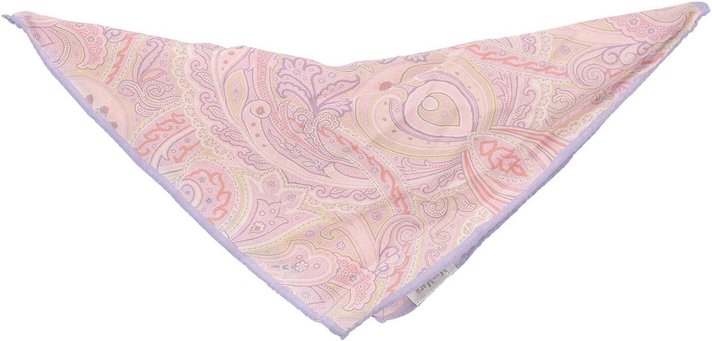 Max Mara Silk Paisley Pocket Square Handkerchief