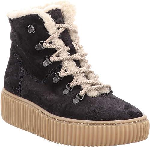 Paul Grün 4663-033 Damen Damen Damen Warmer Stiefel aus Veloursleder mit 35-mm-Plateausohle  Freizeit