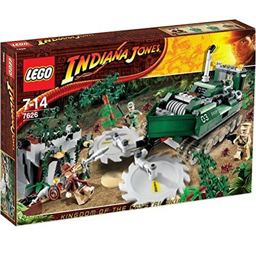 LEGO 7626 - Indiana Jones - Jungle Cutter - 511 Teile incl. 4 Figuren (Indiana Jones & Colonel Dovchenko & 2 Russian Guards) - OVP
