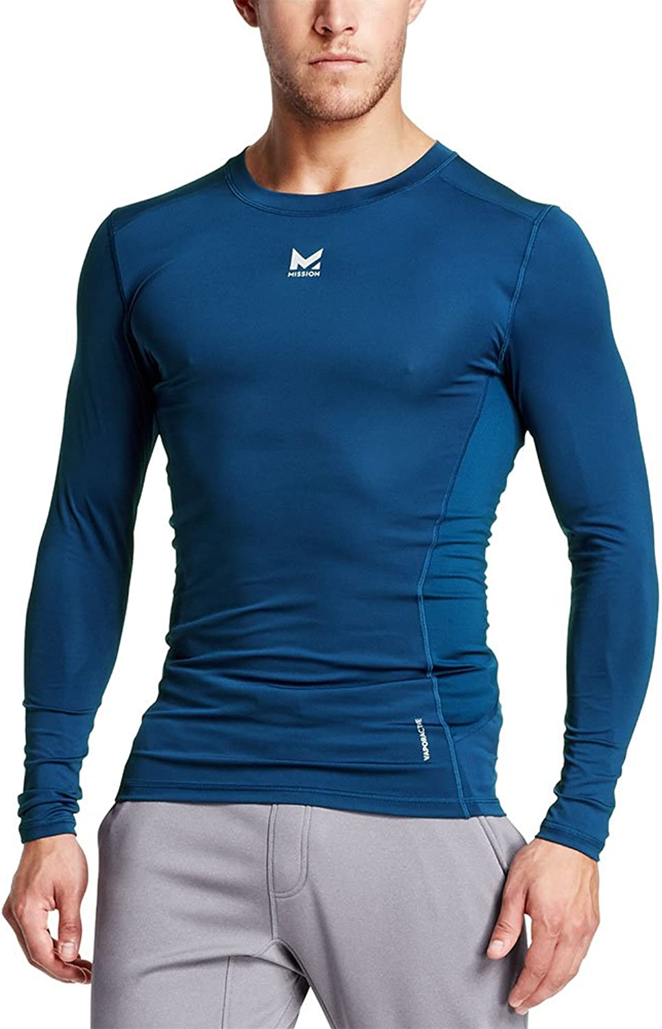 Mission Men's VaporActive Voltage Long Sleeve Compression Shirt