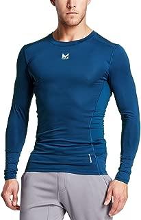 Mission Men's VaporActive Voltage Long Sleeve Compression Shirt, Estate Blue, Large