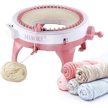MIAOKE Machine à Tricoter, 48 Aiguilles Rond Intelligent Machines à Tisser à Tricoter Bricolage Kit de métier à Tisser pour Adultes et Enfants