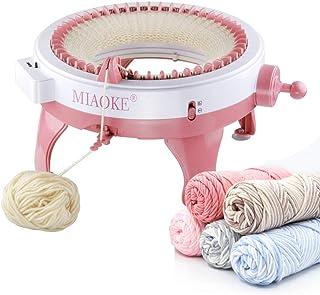 MIAOKE Machine à Tricoter, 48 Aiguilles Rond Intelligent Machines à Tisser à Tricoter Bricolage Kit de métier à Tisser pou...