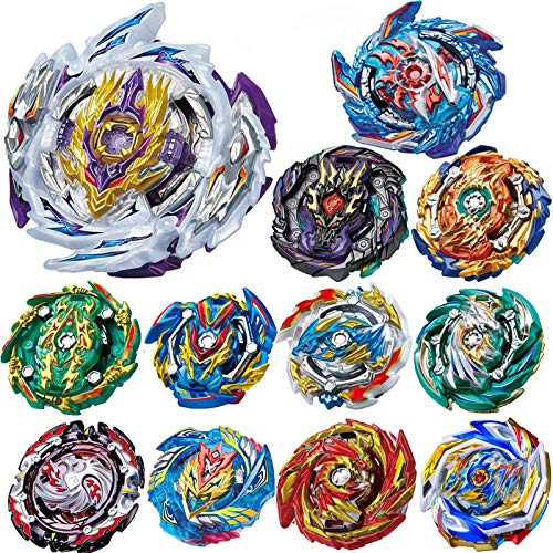 YINGXIANG 12 Pieces Battle Burst Gyros Toys Set High Performance Battling Top, Birthday Party Gifts Idea Toys for Boys Kids Children Age 8+